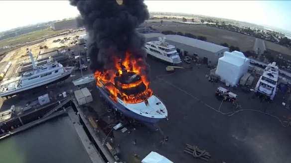 Yacht_Fire_MV_Polar_Bear_San_Diego_Calif__178158